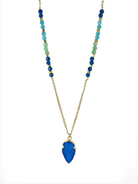 Fields of Blue Necklace