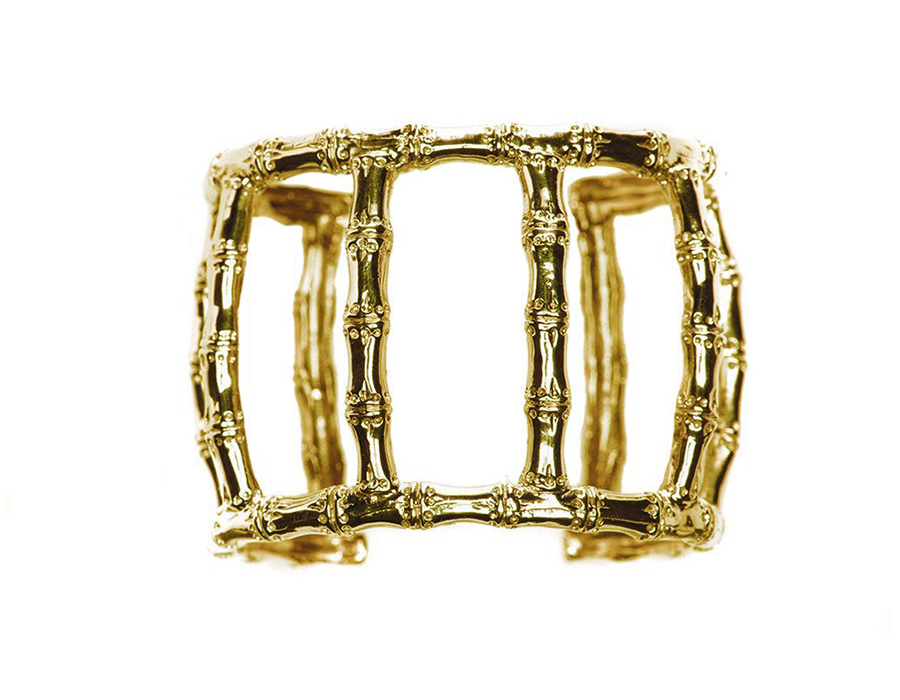 Lucky Bamboo Cage of Strength Arm Cuff