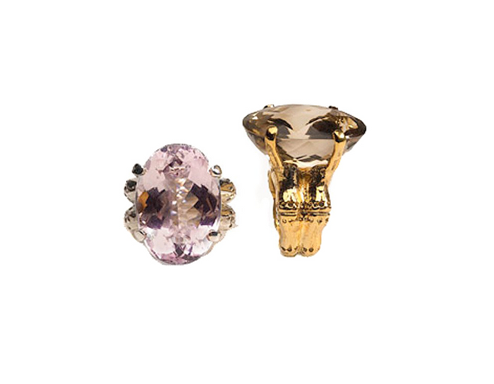 Lucky Bamboo Amethyst Cocktail Ring