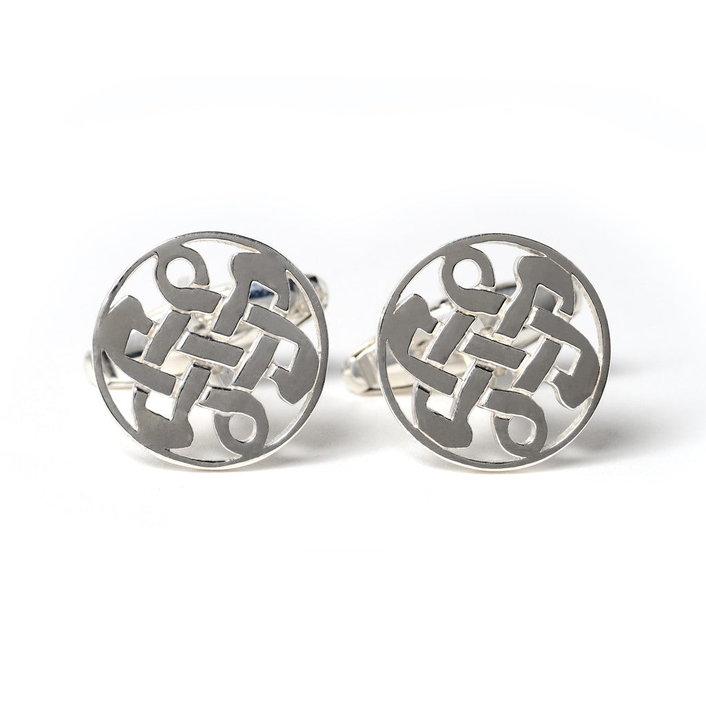 Sterling Silver Celtic Love Knot Cufflinks