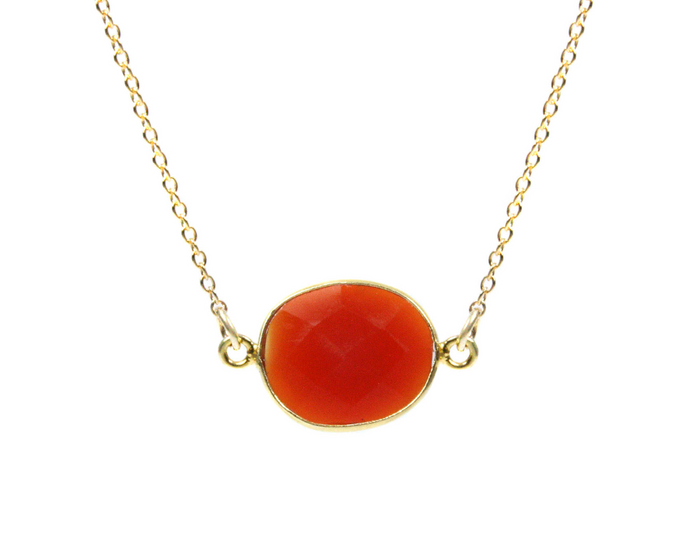 Sun Setting Carnelian Choker Necklace - Sacral Chakra