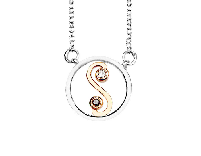 Yin/Yang Diamond Necklace