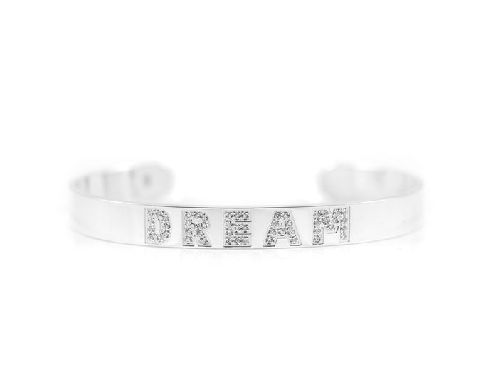 Intention Dream Cuff With Paved CZs
