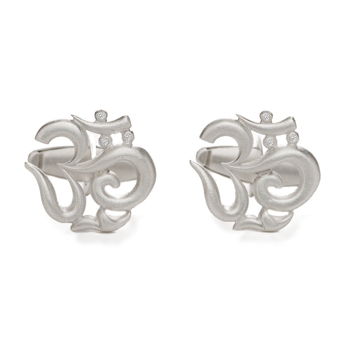 Diamond Om Cufflinks