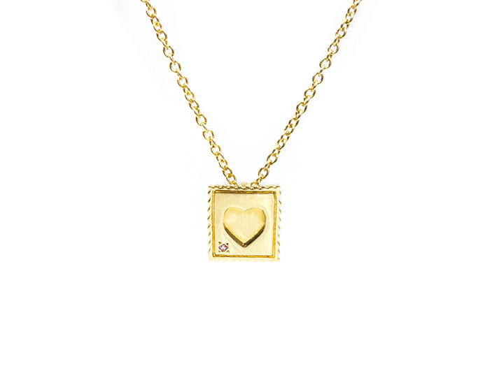 Mini Love Stamp Necklace