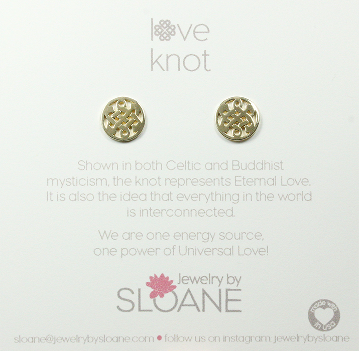 Mini Celtic Love Knot Studs