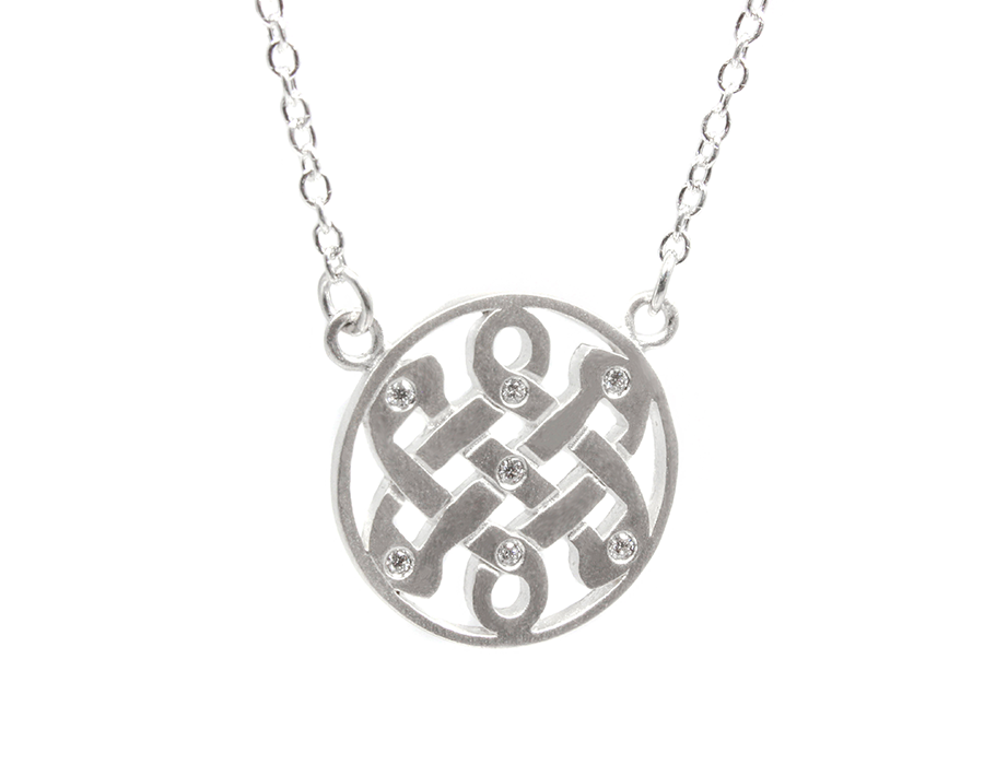 Diamond celtic love knot necklace jewelry by sloane aloadofball Image collections