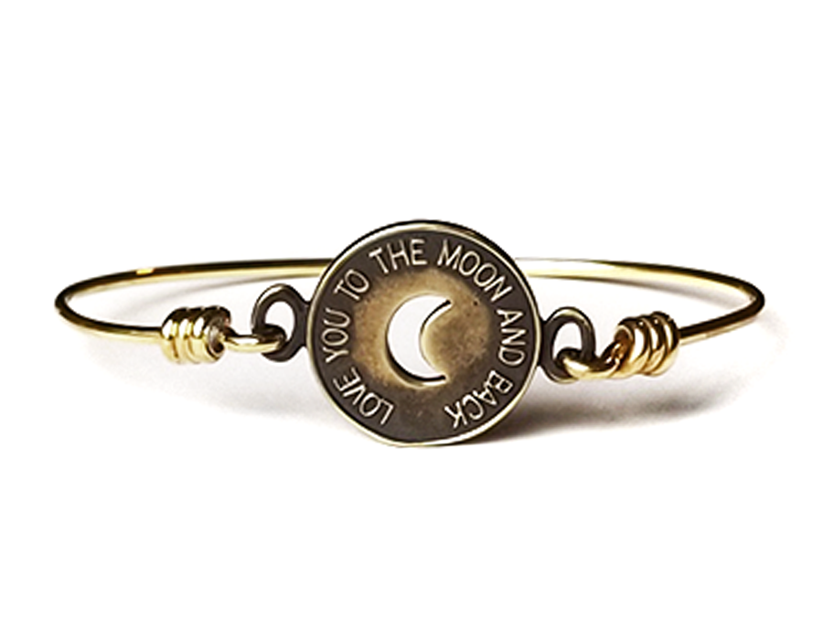Love You To The Moon And Back Gold Token of Love Bracelet