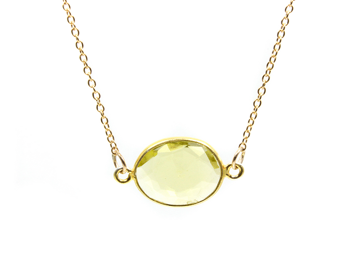 Sunny Life Lemon Quartz Choker Necklace - Solar Plexus Charka