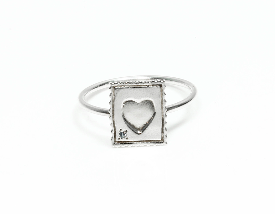 Mini Love Stamp Ring