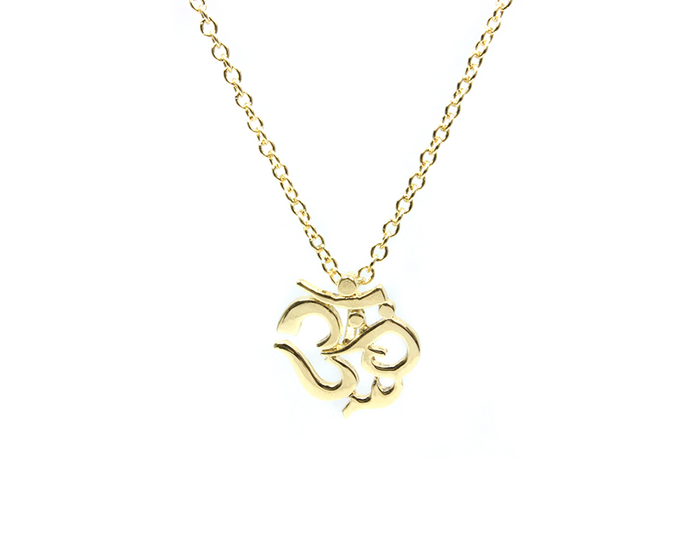 Gold Plated Mini Om Symbol Pendant