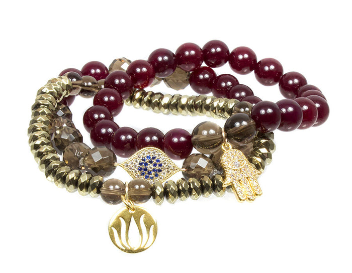 Feeling Grounded Bracelet Set ~ Root Chakra