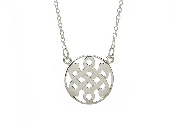 Sterling Silver Celtic Love Knot Necklace