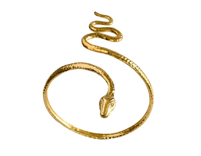 Ruby Eyed Sultry Serpent Arm Cuff Bracelet
