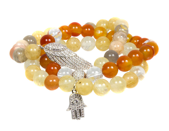 I Am In My Power Bracelet Set ~ Solar Plexus Chakra