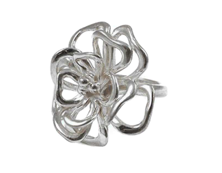Layered Full Bloom Rose Flower Ring