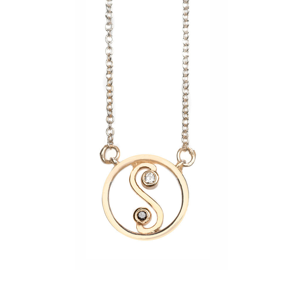 Yin Yang Diamond Necklace