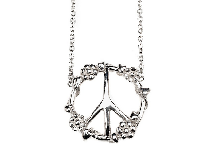 Peace & Love Flower Child Necklace