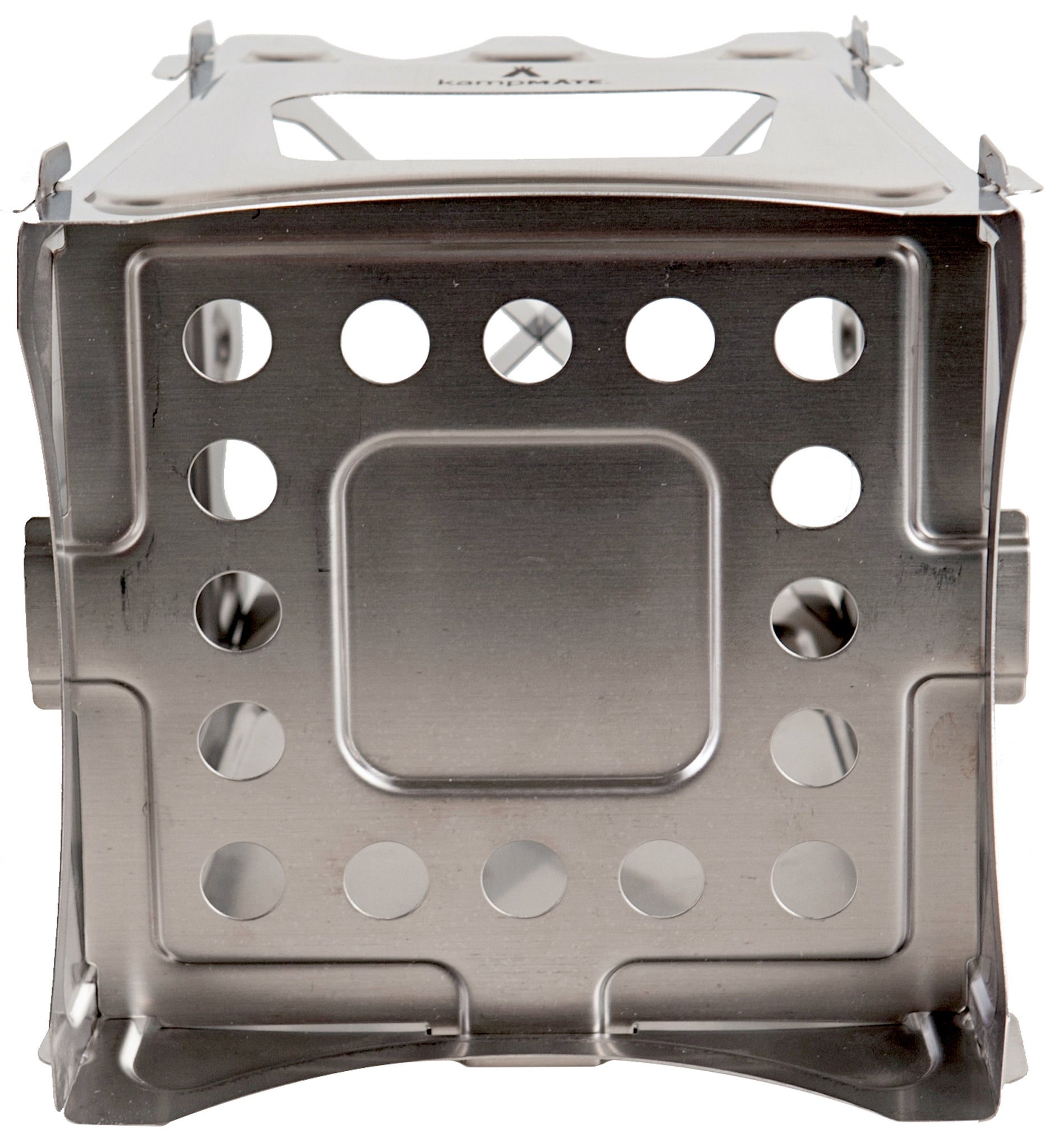 kampMATE WoodFlame Ultra Lightweight Portable Wood Burning Camping Stove Backpacking Stove Perfect for Survival Packs /& Emergency Preparedness Stainless Steel with Nylon Carry Case
