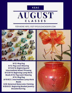 Visual Arts Academy Classes- August