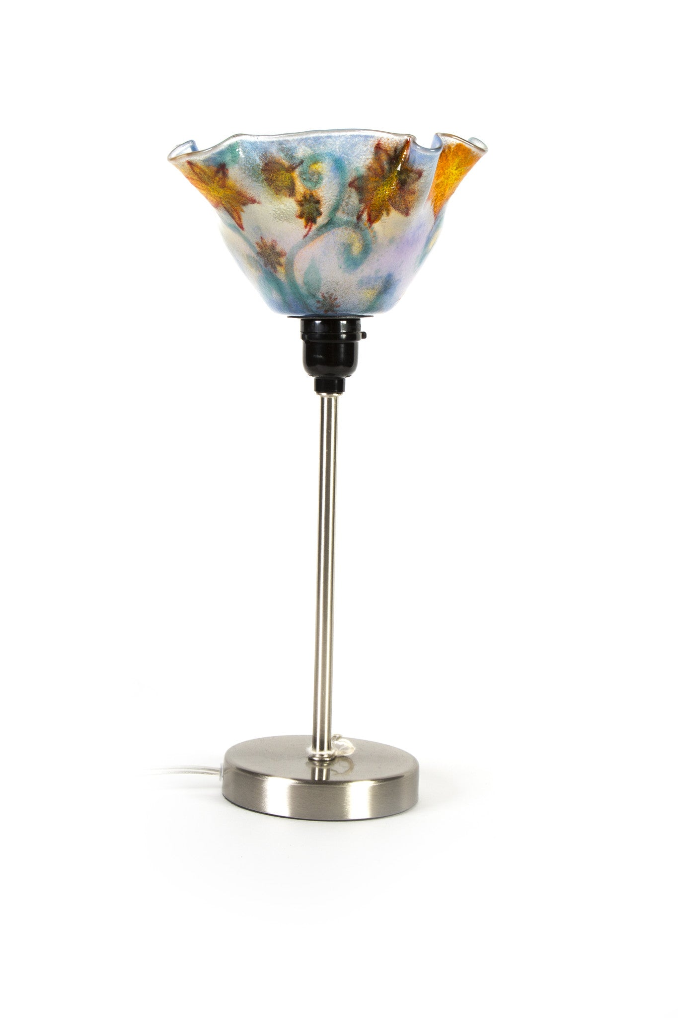 Orange & Blue Floral Torchiere
