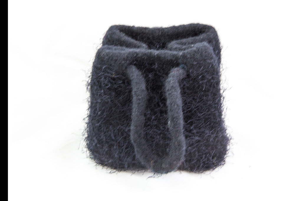 Small Knitted Black Felted Purse by Marsha R. Maupin