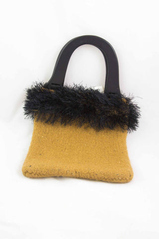 Hand Knitted & Felted Purse