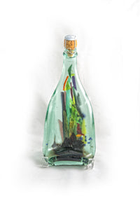 Bottle with Color Glass