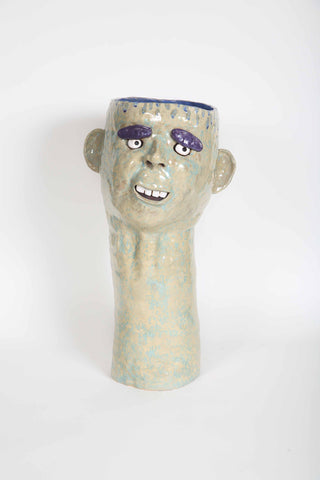 Large Head and Neck Potting Vase