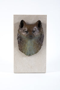 Happy Fox Bronze/Stone by Cynthia Niklas