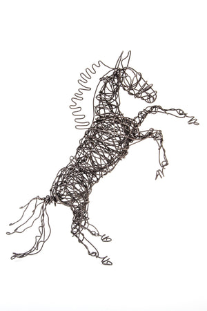 Wire Horse Sculptures by Dacelle Peckler