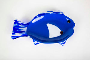 Blue Fish Dish by Teresa Howard