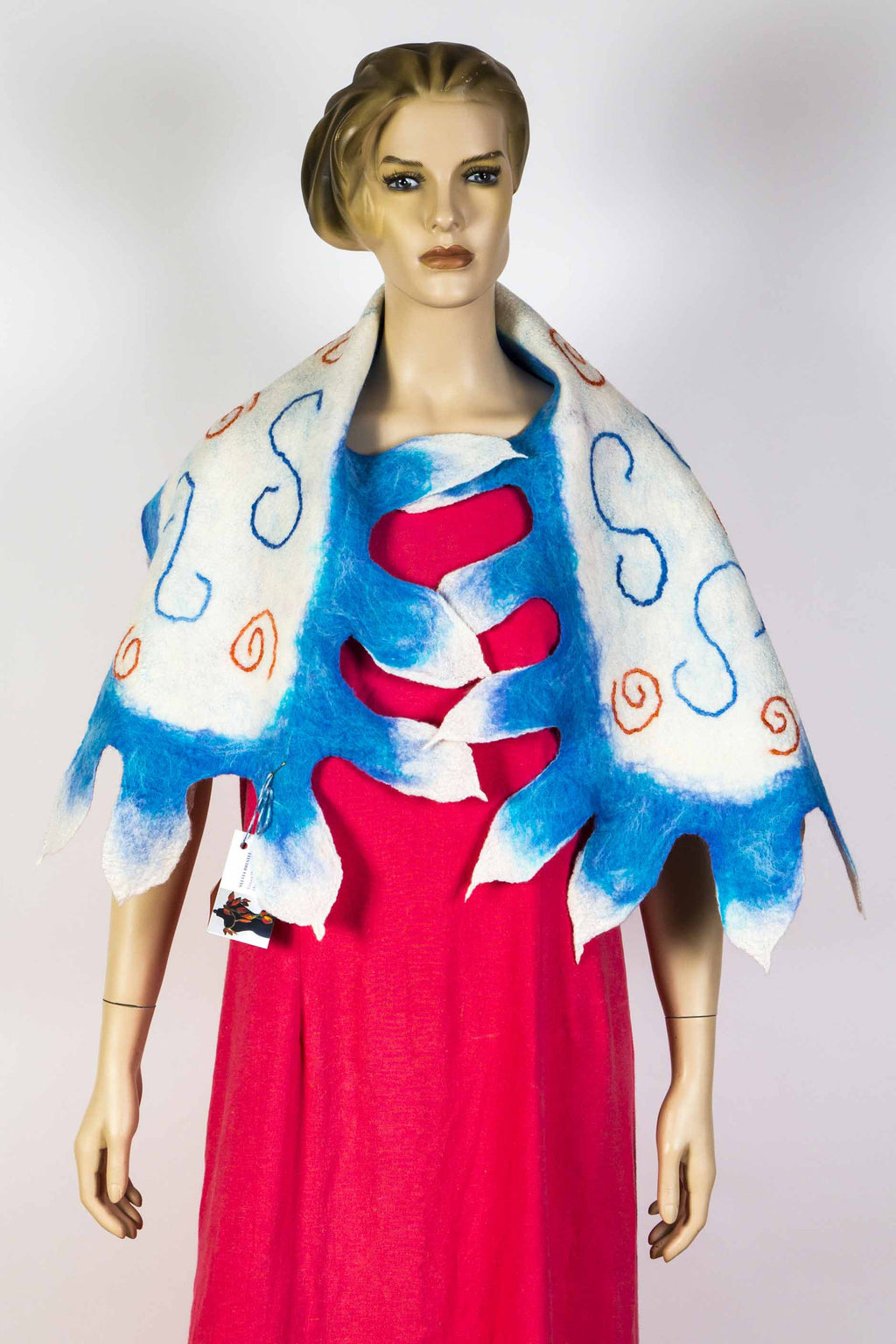 Frolic Feather Scarf by Sylvia Brestel