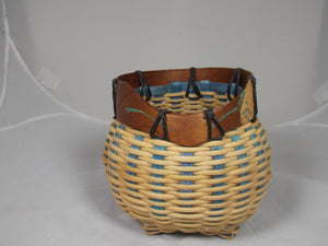Fancy owl basket by Herb Goodman