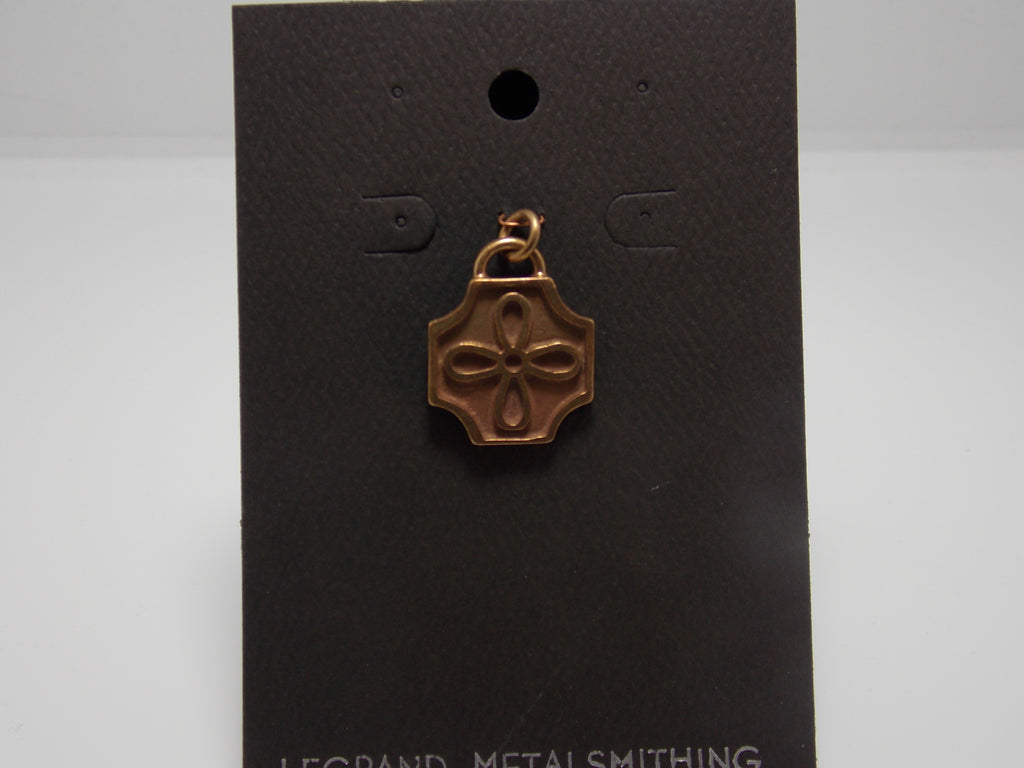 Cast Bronze Deco Flower Pendant by Gerald Price