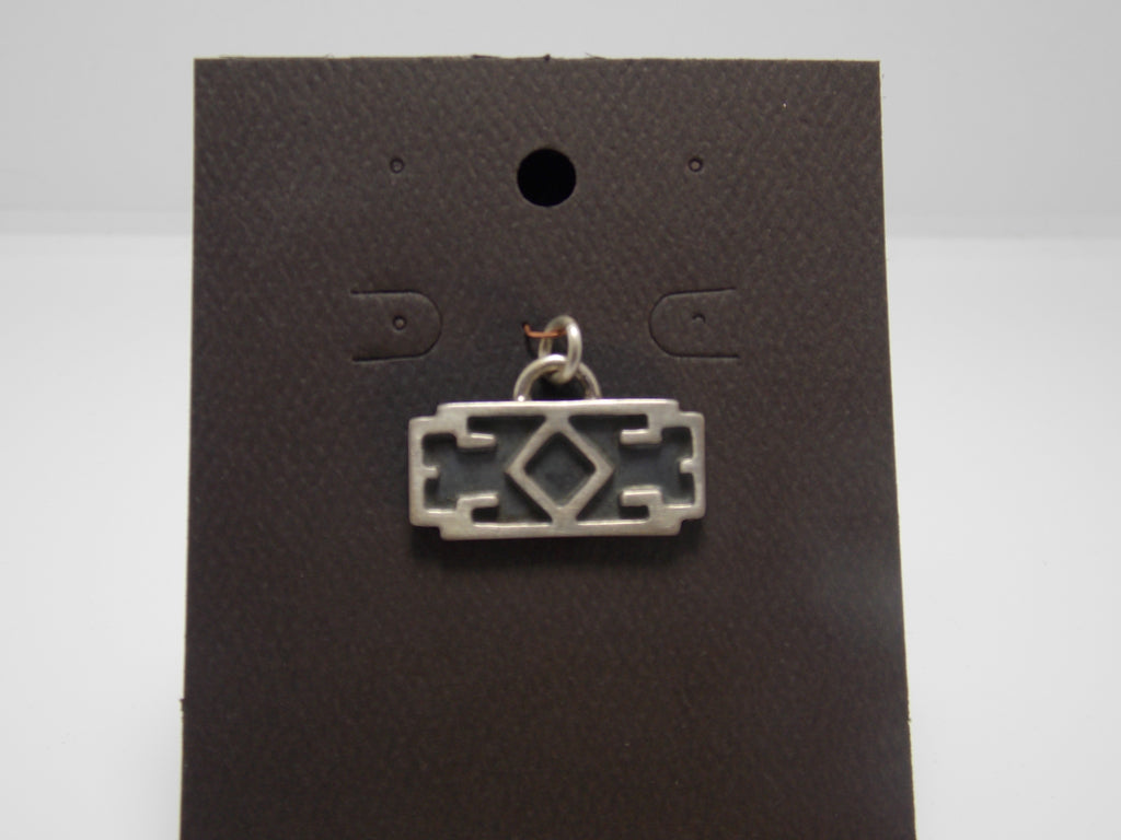 Cast Sterling Deco Geometric Pendant by Gerald Price
