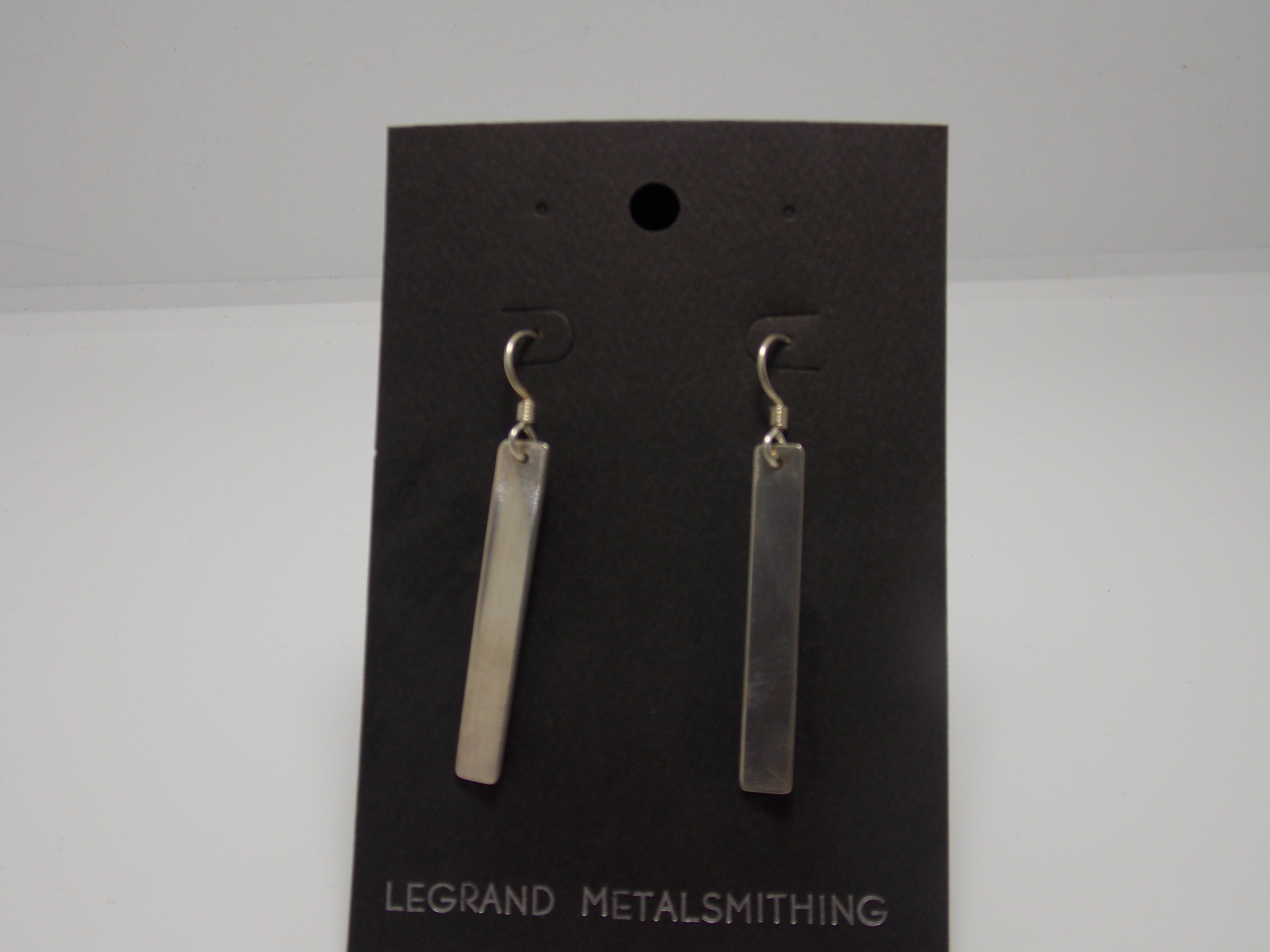Sterling Bar Earrings by Gerald Price