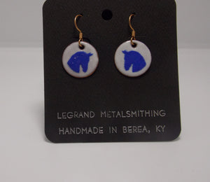 Horse Head Earrings by Gerald Price