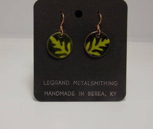 Ambrosia Leaf Earrings by Gerald Price