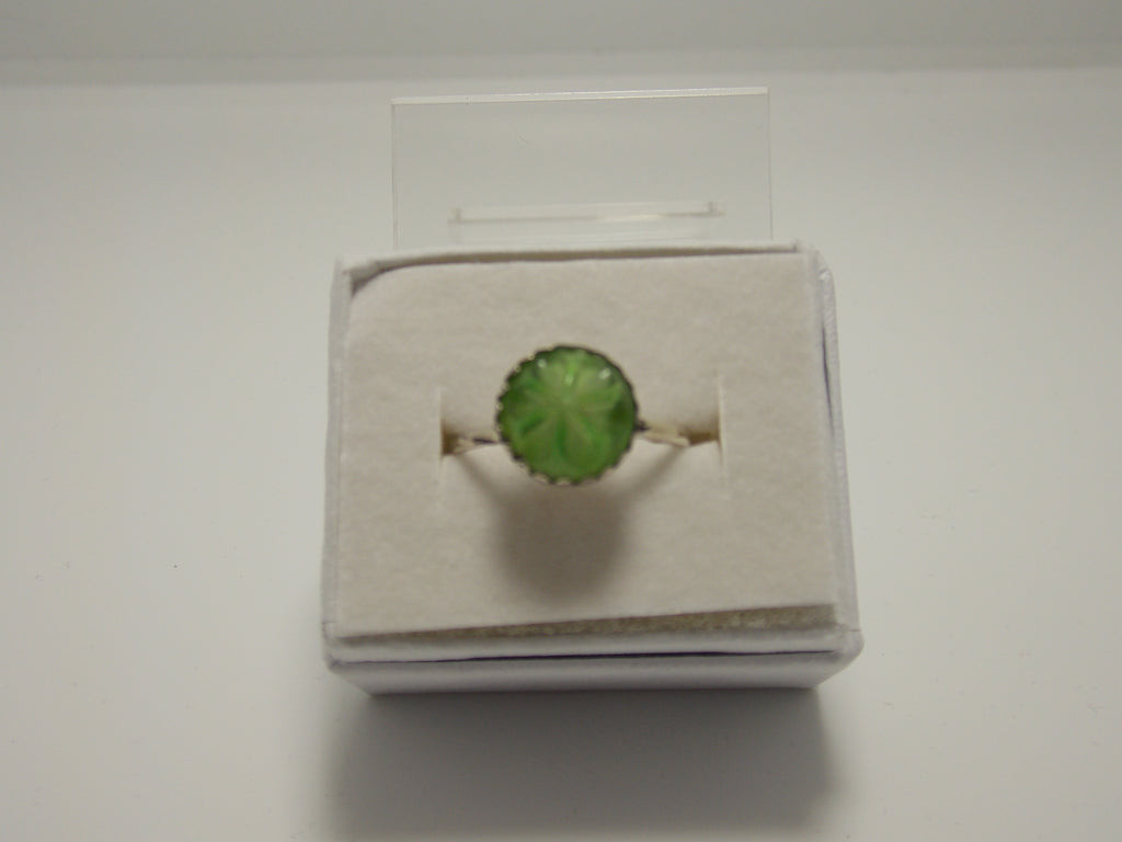 Green Vintage Glass Ring