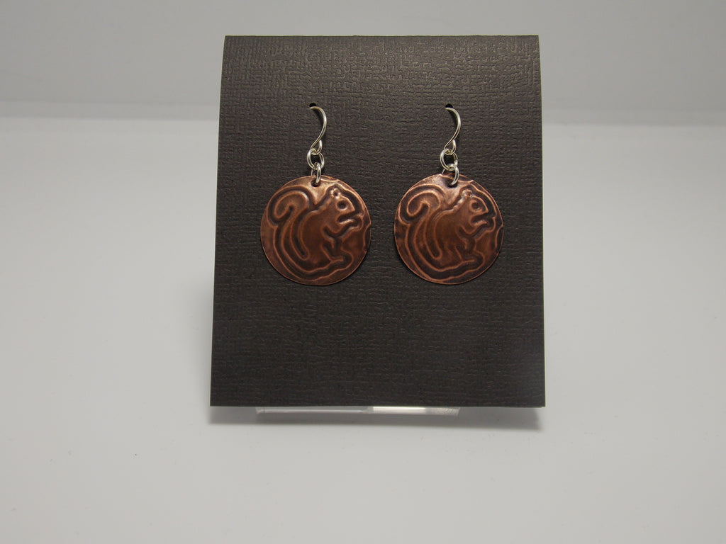 Sterling Silver and Copper Circle Earrings by Rebecca Wheat