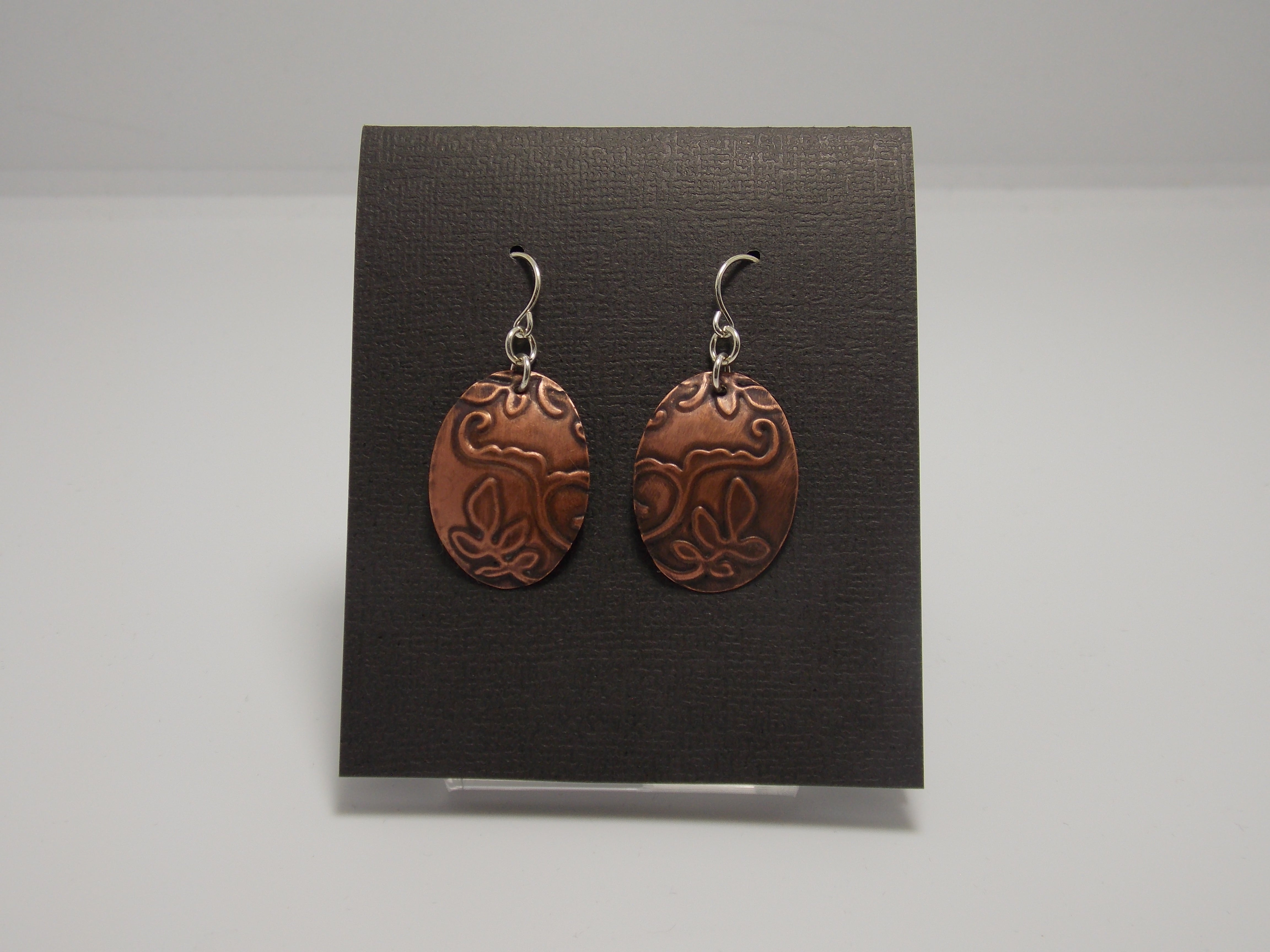 Sterling Silver/Copper Earrings by Rebecca Wheat