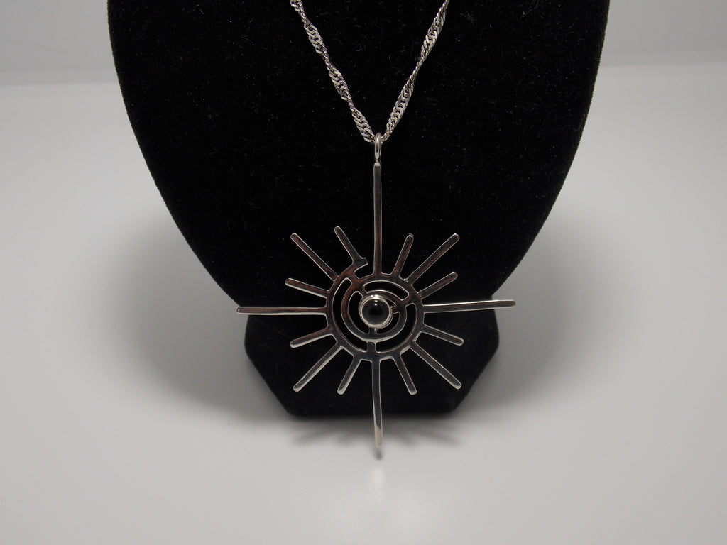 Large Spiral pendant (Black Onyx) by Dave Ely