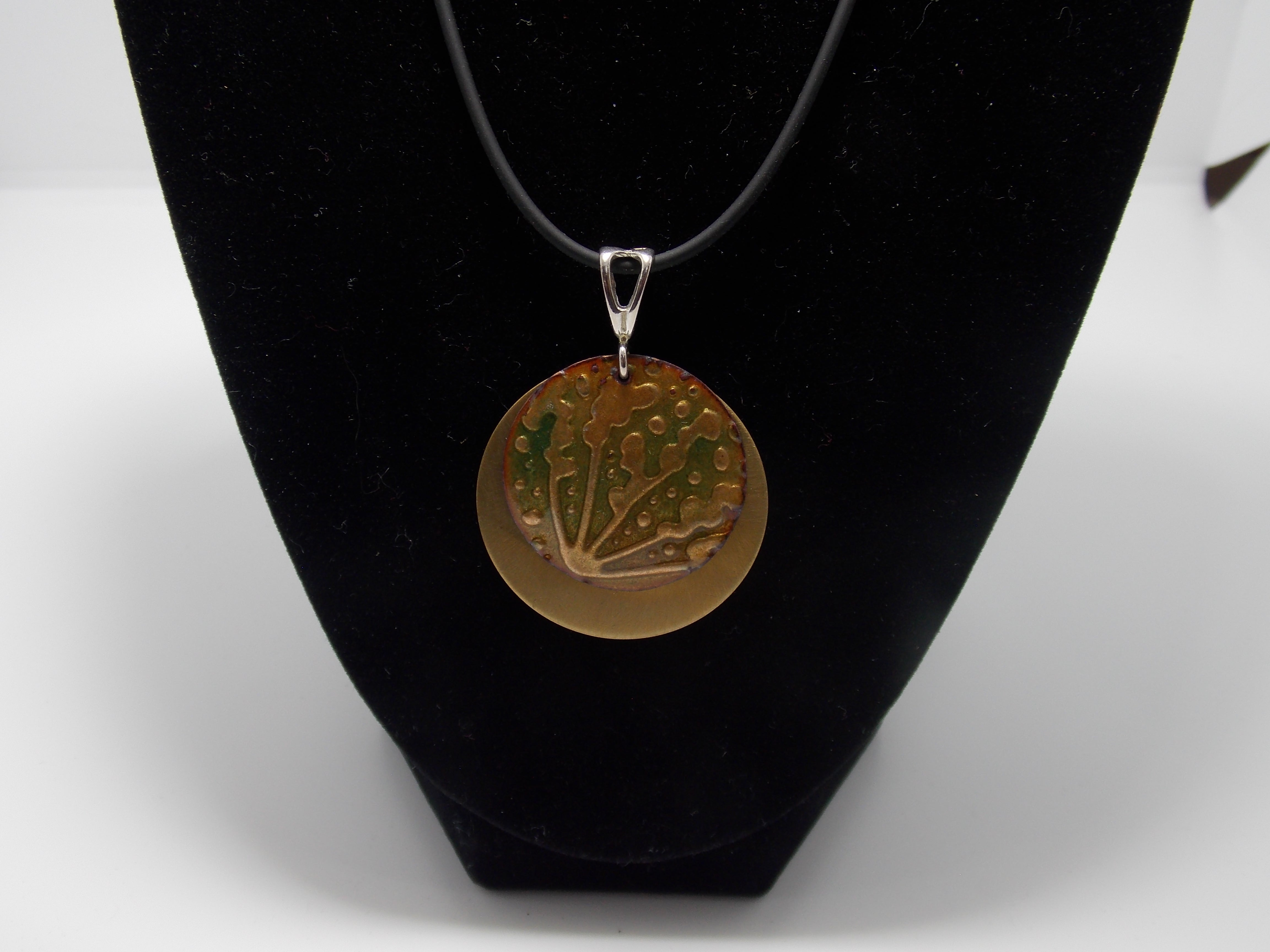 Seaweed/ Brass Necklace by Bob Mattingly