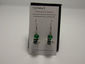 Cyrilda's Torch Earrings by Toni Menk