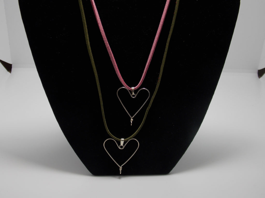 Small Sterling Silver Heart W/ Cord by JoAnna Dickey