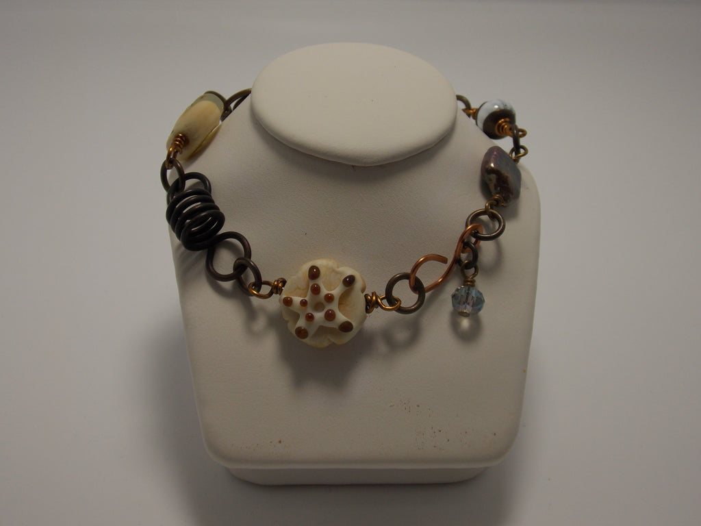 Bracelet (Ocean Beads) by Sherrie Cocanougher