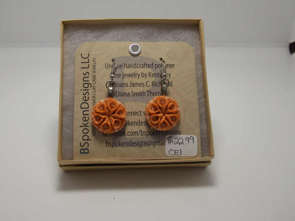 Orange earrings by Diana Thomas