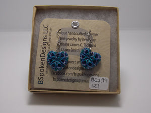 Blue Earrings by Diana Thomas