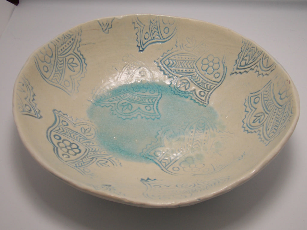 Round Serving Bowl by Amanda Bridges